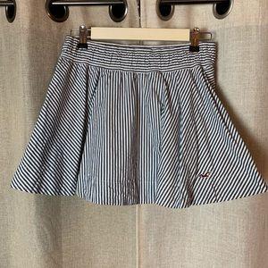 Hollister Pinstripe Mini Skirt L